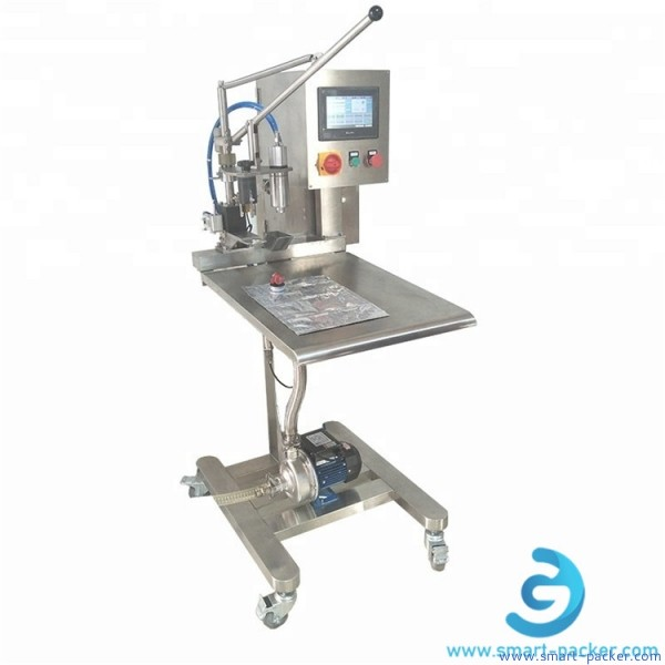 Manual bag in box BIB liquid single head filling machine concentrated berverage juice drinking bag-in-box filler packing equipment manual operation type