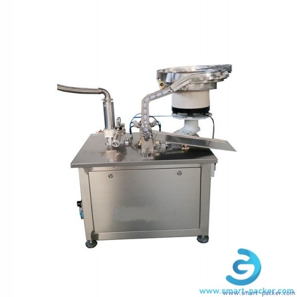 Glass glue silicone glue MS glue building structure glue tube filling cap bottom pressing sealing machine semi automatic stronge viscosity glue filler capper equipment
