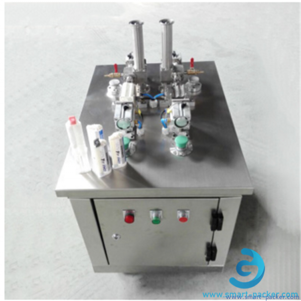 50ml electronic glue, dental materials, marble glue and colloids for special industries filling machine semi automatic glue double heads glue dual nozzles filler equipment