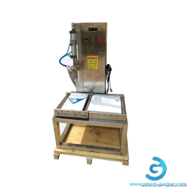 Single heads weighing filling machine semi automatic big drum paint filler machine 5-20kg large capacity liquid oil water filler equipment