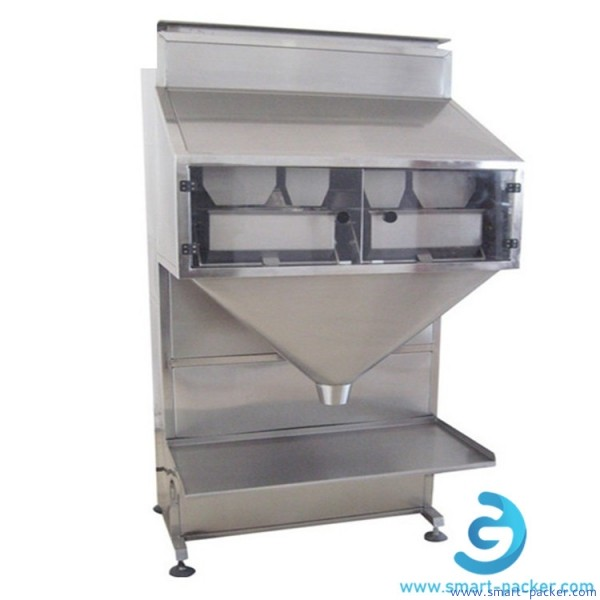 Mixed granules 4 heads weighing heads filling machine semi automatic linear weigher machine for bottle jar bag granules rices nuts beans
