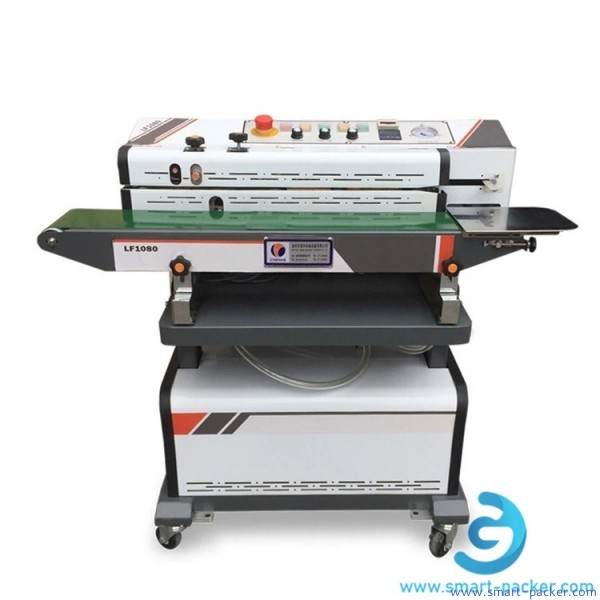 Semi automatic continuous vacuum sealing machine with Nitrogen gas flush continuous band sealer sealing machine