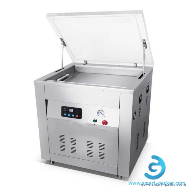 Semi automatic double size big chamber rice bag vacuum packing machine sealing bar heat vacuum bag packaging equipment