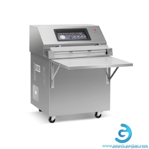 Stainless steel table dry seafood fish vacuum packing machine semi automatic external vacuum pumping sealer equipment