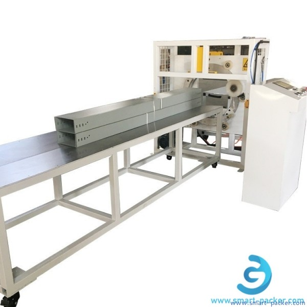 Automatic horizontal stretch film wrapper orbital wrapping packing machine film full circling wrapping sealing equipment