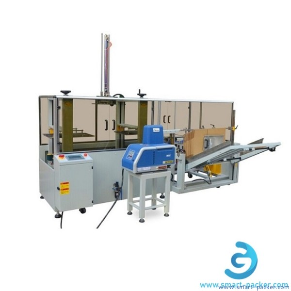 Automatic carton box hot melt glue erector forming sealing machine hotmelt glue carton erecting packing machine