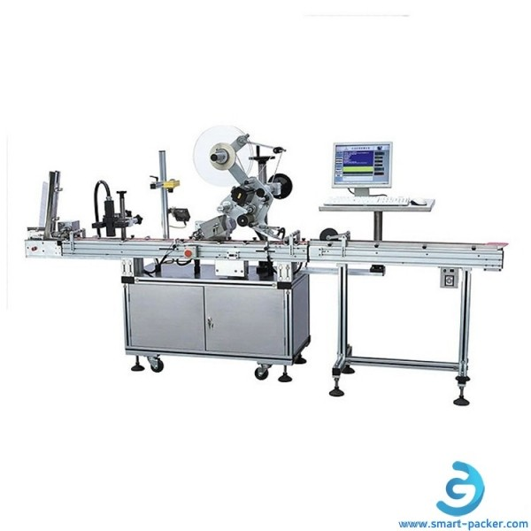 Automatic RFID card label stick labeling machine with card printing system all in on RFID labeler packing line