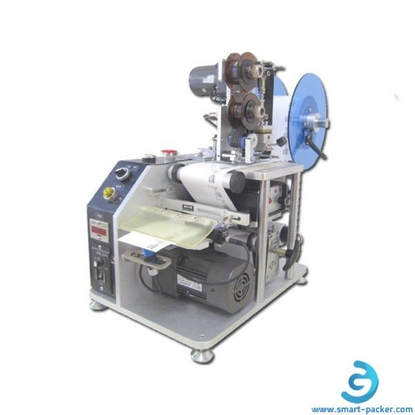 Desktop label dispensing peeling machine with coding printer function
