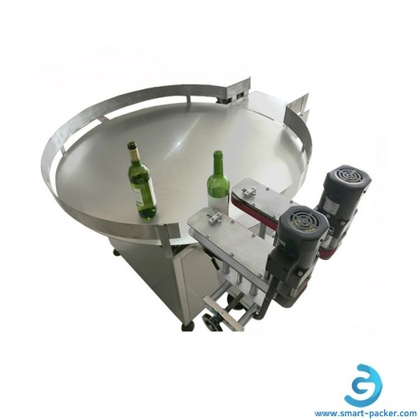Automatic round bottle jar can unscramber turntable machine feeding collectinng bottle turntable with speed controller