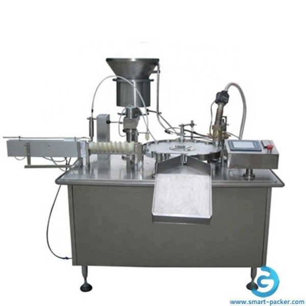 Automatic medical plastic tube filling heat sealing machine small tube rotary filler tail heater sealer equipment with single station