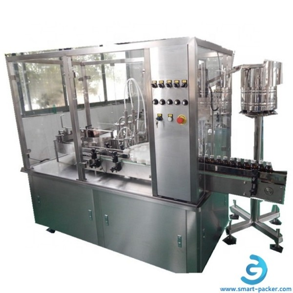 Automatic high speed glass vials bottle oral liquid syrup pharm filling plugging capping labeling machine cutomized pharm equipment line