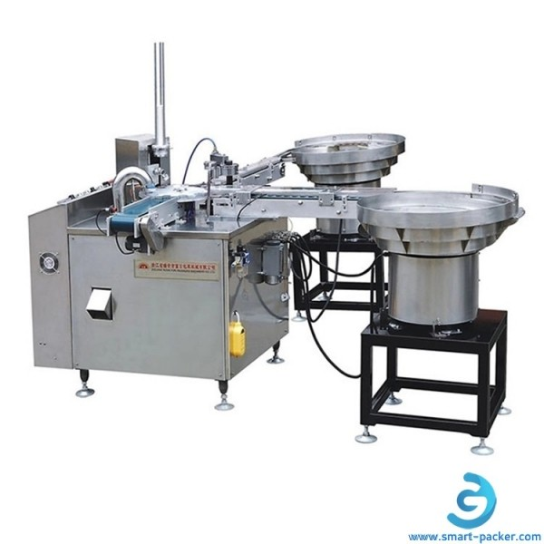 Automatic rubber wad assembly and lining machine