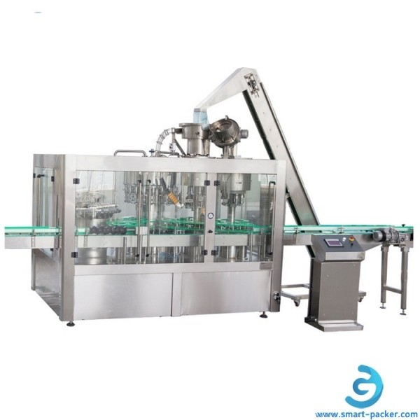 Automatic mineral water PET bottle 8-8-3 rotary rinsing filling capping machine 3 in 1 water bottle juice milk rinsing filler capper line