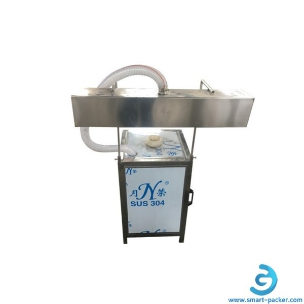 Semi automtaic 5 gallon bottle bucket barrel neck sleeve shrinking sealing packing machine steam sleeving applicator tunnel equipment