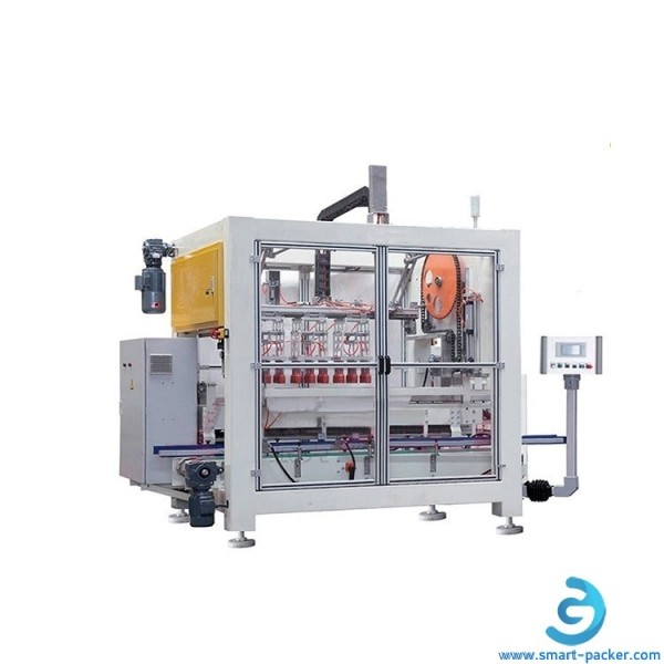 Automatic bottle line in bulk graping type encasing machine bottle cartoning line water juice drinks beverage bottle carton box inserting machine