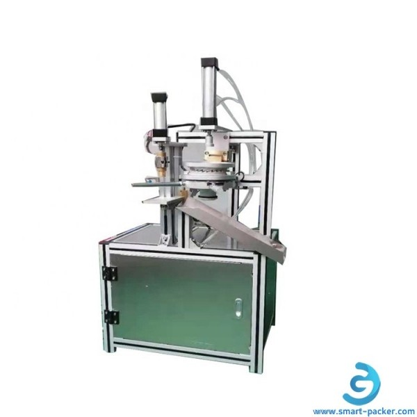 Manual soap shrink stretch film pleat wrapping machine with heat presing head sealing cylinder clear film wrapper for multilayers soap