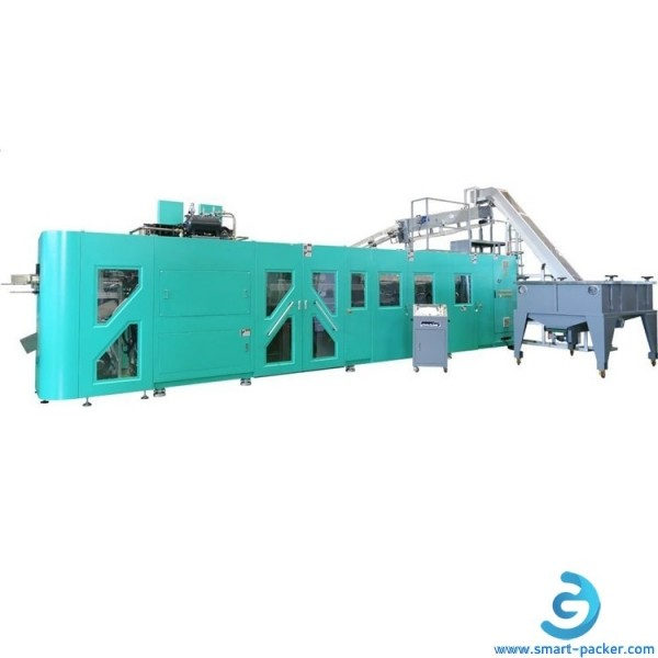 High speed linear type 12 cavities bottle blowing machine fully automatic plastic bottle making line 10000 bottle per hour