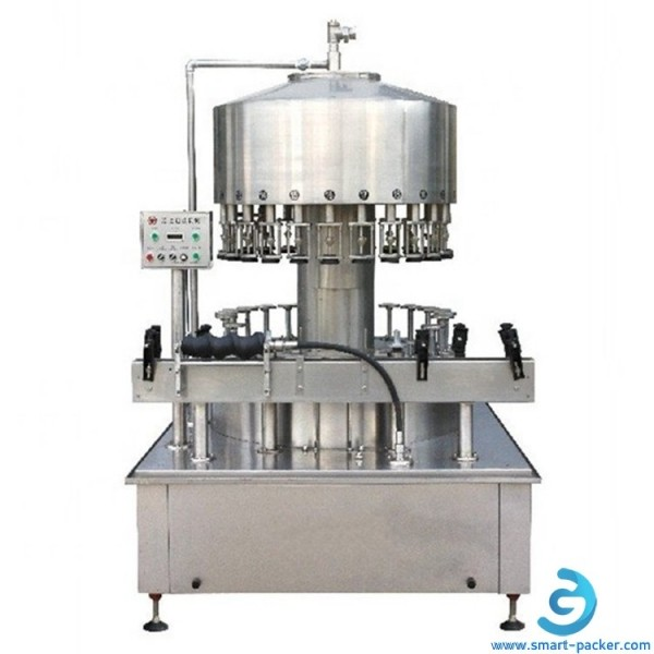 12 heads automatic wine whiskey vodka brandy liquid glass bottle filling machine rotary wine non dense liquid filler line