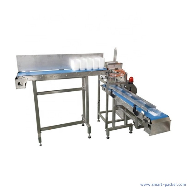 Automatic plastic tray case box feeding machine empty tray feeder machine tray dispensing feeding machine
